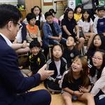 도성훈 교육감 학생들 수업 초대에 '한달음'