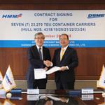 현대상선, 국내 조선 3사와 컨테이너선 20척 건조 계약