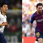 유럽축구 챔스리그 조별리그 손흥민과 메시 첫 일대일 대결