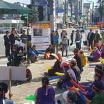 여주 북내면 주민들 남한강변 전차훈련시설 반대 결의대회 가져
