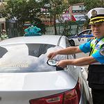 부천소사경찰서, 운수업체 방문 교통은 문화다 스티커 부착 캠페인