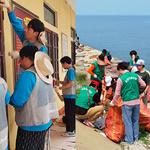 환경정화~교육시설 개선… 국내외 행복에너지 전파