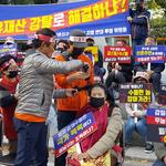 성남 신촌동 공공택지 지정 반대 '삭발'