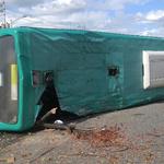 성남시 수정구 서울공항 인근 도로 시내버스 넘어져 1명 사망