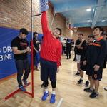 더 높이 닿고 싶다… 프로농구 신인선수 드래프트 참가자 신체 측정