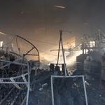포천시 섬유공장 화재 , 불길 거세  난항겪어 , 검은연기 일대에 확산
