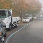 불법 주·정차로 무용지물 된 김포시 계양천 산책로 자전거도로