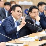 유수지 활용안 논의하는 박 시장