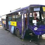 인천 남동구서 시내버스-택시 충돌 승객 10명 다쳐