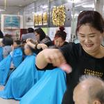 동두천시자원봉사센터 재능나눔 미용봉사단,요양병원 방문해 미용봉사 활동