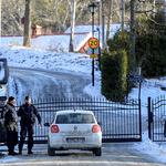 스웨덴 북미 협상장 입구 차량 통제