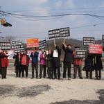 강천SRF열병합발전소 반대 주민들 매주 1회 적금리 발전소 앞서 집회