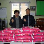 용인시 도시재생과 십시일반 모은 성금 무료급식단체 백옥쌀 전달
