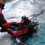 인천부평소방서, 한파에도 수난사고 대비 구조훈련
