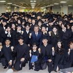 文, 유한대 졸업식서 '도전 정신' 강조