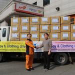 남양주소방서, 필리핀 다바오시에 옷 7000여 점·생활물품 선물