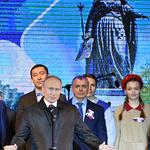 '크림병합' 5주년 맞아 현지 찾은 푸틴