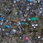 사이클론에 침수된 모잠비크 마을
