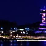 불 밝힌 광교호수공원 전망대… 환경도시 수원 한눈에