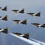 공군 블랙이글스, 창군 70주년 기념 이미지와 함께 날아올라