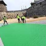 화성어차 전용도로에 '녹색칠'