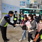 한국자유총 하남지회, 신장초 정문앞 학교폭력 근절  캠페인