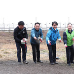 인천 서구 심곡천 둔치 꽃씨 뿌리기 행사