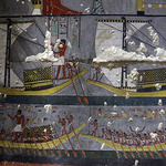 이집트 사카라 유적지 고왕국 무덤 벽화