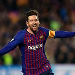 '멀티 골 폭발' 득점 후 기뻐하는 바르셀로나 메시