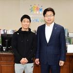 체조 국제대회 우승으로 재기 성공 염태영 수원시장, 양학선 초청 격려