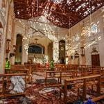 부활절 스리랑카 네곰보 성당 폭발 현장