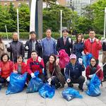 자유한국당 성남 분당(을)당원협의회,분당구 정자역과 탄천변 정화 봉사활동