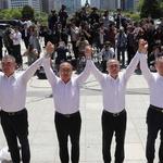 한국당, 집단 삭발로 '비폭력 저항' 강조