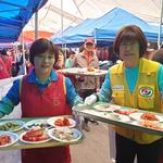 하남시의회 방미숙 의장·김은영 의원, 시민 경로잔치서 봉사 활동