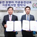 화성시가 한국전력과 '주거지역 가공 송전선로 지중화사업' 업무협약 체결
