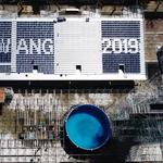 광주세계수영선수권 D-50… 물 채우고 문구 새기며 준비