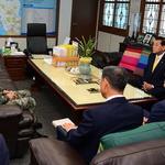 백경순 해병대 제2사단장 강화군 방문 유천호 군수 만나 지역 발전 협력 모색