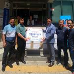 최형석 새하남교회 목사, 신장1동·2동 행정센터에 생필품  전달