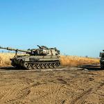이동 중인 이스라엘군 탱크
