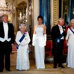 트럼프 英 국빈만찬장의 여왕, 찰스 부부