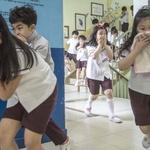 재난 대피요령 익히는 어린이들