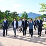 이재명 경기지사, 한탄강 지질공원센터 방문