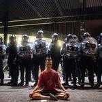 홍콩 '범죄인 인도 법안' 반대 '정좌'(正坐)