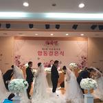하남교회서 중국 등 5쌍 '제8회 다문화가족 합동결혼식'