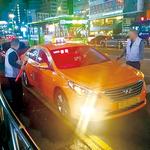 주말 인천 번화가 긴 택시행렬 슬그머니 껴있는 서울·경기車