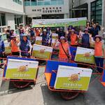 남양주 남부케어센터, 폐지수거 노인에 '가벼운  손수레'지원