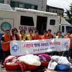 안양시 동 센터 '행복한 동네 만들기'…꽃길, 효지팡이, 빨래 봉사 등