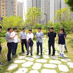 최종윤 민주당 하남지역위원장, 미사수변공원 10호 민원현장 방문