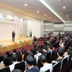 안성  케이씨텍 4공장서 장애인 등 '하하호호 나눔밥상' 행사