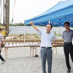 평택시, 통복지구 빗물펌프장 건설현장 점검